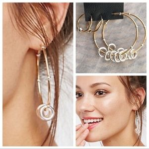 Free People Santa Fe Golden Sun Hoop Earrings Set